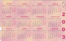 Turkey, N-292, Calendar 2003, 2 Scans. - Turkije