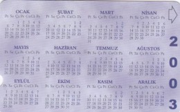 Turkey, N-290, Calendar 1, 2 Scans. - Turkije