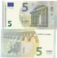 BANCONOTA BILLET DA 5 EURO DRAGHI  YA GRECIA Y001... UNC RARA - 5 Euro