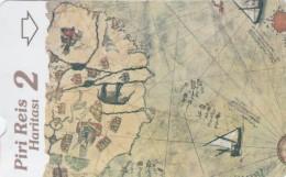 Turkey, N-321,  Piri Reis' Map, Puzzle 2, 2 Scans. - Turquie
