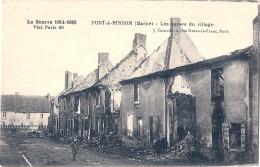 PONT A BINSON  Les Ruines Du Village  écrite 1916 TTB - Other Municipalities