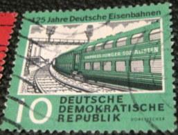 Germany 1960 The 125th Anniversary Of Rail Roads 10pf - Used - [6] Repubblica Democratica