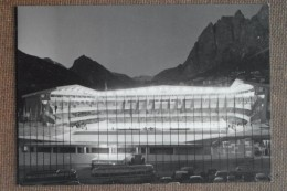 CORTINA STADIO DEL GHIACCHIO  - CON 4 FRANCOBOLLI E 4 TIMBRI GIOCHI OLIMPICI 1956-- BELISSIMA - Italia