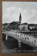 VERONA  CHIESA S.TOMMASO   E PONTE  NUOVO --1951--ANIMATA  - BELLISSIMA - Italia