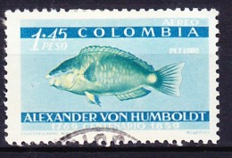 POISSON FAUNE MARINE - COLOMBIE 1960 YT N° PA 350 Obl. - Pesci