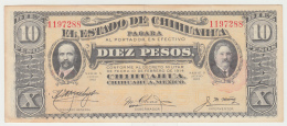 Mexico 10 Pesos 1914 XF+ - Mexico