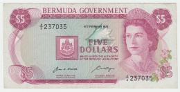 Bermuda 5 Dollars 1970 VF+ Banknote Pick 24 - Bermudas