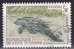 Costa D'Avorio, 1964/65 - 5f  Manatee - Nr.218 Usato° - Costa D'Avorio (1960-...)