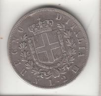 ITALIA 1863 - 2 LIRE STEMMA NAPOLI  ARGENTO - 1861-1946 : Reino