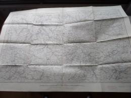PARIS ( Felle 13 ) Anno 1944 - Schaal / Echelle / Scale 1: 320.000 ( Stafkaart : Zie Foto´s ) ! - Other