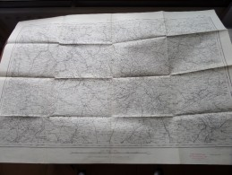PARIS ( Felle 13 ) Anno 1944 - Schaal / Echelle / Scale 1: 320.000 ( Stafkaart : Zie Foto´s ) ! - Maps