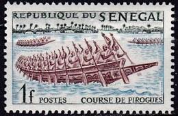 Senegal, 1961 - 1f  Pirogues Racing - Nr.203 MNH** - Senegal (1960-...)