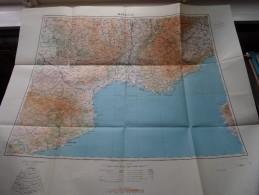 MARSEILLE Anno 1944 - Schaal / Echelle / Scale 1: 1.000.000 ( Detail : Zie Foto´s ) ! - Maps
