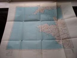 RENNES Anno 1944 - Schaal / Echelle / Scale 1: 1.000.000 ( Detail : Zie Foto´s ) ! - Cartes