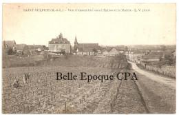 49 - SAINT-SULPICE - Vue D'ensemble Vers L'Église Et La Mairie ++++ L. V., Phot. ++++++ RARE - Autres Communes