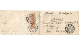 Fragment D'Enveloppe  -    Cachet  De  RUSSIE   De  1906   à  Destination  De  GENEVE - 1857-1916 Empire