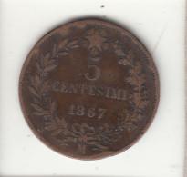 ITALIA 1867 - 5 CENTESIMI MILANO - 1861-1946 : Royaume