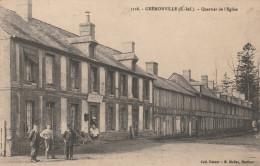 CPA 76 GREMONVILLE QUARTIER DE L' EGLISE - Autres Communes