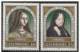 Lussemburgo/Luxembourg: Maria Teresa, Maria Di Borgogna, Eurapa CEPT - Mujeres Famosas