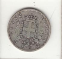 ITALIA 1867 - 1 LIRA STEMMA MILANO ARGENTO - 1861-1946 : Royaume