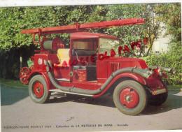 AUTOMOBILE - POMPIERS- POMPIER- INCENDIE- FOURGON POMPE RENAULT 1929 - COLLECTION MUTUELLE DU MANS - Postcards