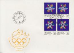 Enveloppe  FDC  1er  Jour   LIECHTENSTEIN    Jeux   Olympiques   SARAJEVO   1984 - Invierno 1984: Sarajevo