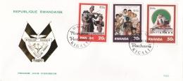 Rwanda FDC 1981 Norman Rockwell (A28) - Rwanda