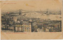 Hold To Light New York Brooklyn And Williamsburg Bridges Carte Transparente - Halt Gegen Das Licht/Durchscheink.