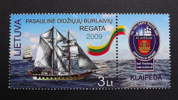 """Litauen 1018 **/mnh, Großseglerregatta In Der Ostsee. Schoner """"Brabander"""" - Lithuania"""