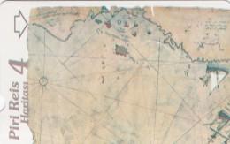 Turkey, N-323,  Piri Reis´ Map, Puzzle 4, 2 Scans. - Turquie
