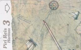 Turkey, N-322,  Piri Reis´ Map, Puzzle 3, 2 Scans. - Turquie