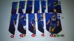 Inter,,squadra  Completa 11 Card,calciatori Adrenalyn 2010-11,panini Figurine - Panini