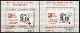 Makedonien MiNr. Bl. 15 A + B ** Rotes Kreuz: Woche Der Solidarität - Macedonië
