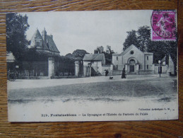 77 - Fontainebleau : Judaïca - La Synagogue Et L' Entrée Du Parterre Du Palais - Fontainebleau