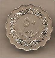 Libia - Moneta Circolata Da 50 Dirhams - 1975 - Libia