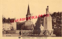 03 -  COSNE D' ALLIER - MONUMENT AUX MORTS  EGLISE - Altri Comuni
