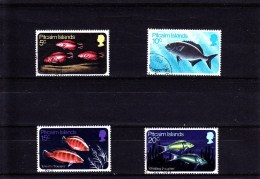 1970 -PITCAIRN - O/FINE CANCELLED - FISHES - Mi 114/117   Yv 113/116 - Stamps