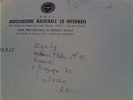 BUSTA REGGIO EMILIA ASS. NAZIONALE  EX INTERNATI VB1975 FM2305 - Prigione E Prigionieri