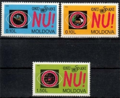 Moldawien MiNr. 184/86 ** 50 Jahre Vereinte Nationen - Moldawien (Moldau)