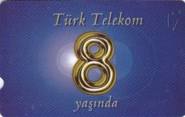 Turkey, N-378, 8th Annv. Of TT : Blue, 2 Scans. - Turkije