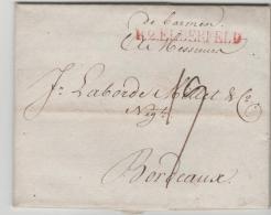 Pre272 /  PREUSSEN - De Barmen, R 2 Elberfeld 1803 Nach Frankreich Mit Rechnung Und Begleitschreiben - Duitsland