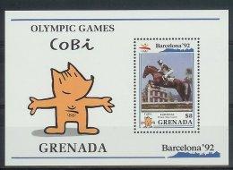Mua862 SPORT OLYMPISCHE SPELEN PAARDRIJDEN OLYMPIC GAMES BARCELONA HORSE EQUESTRIAN GRENADA 1990 PF/MNH - Zomer 1992: Barcelona