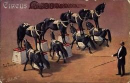 Artiste Cp Paul Thomer, Circus Busch, Ernst Schumann, Pferdedressur, Tuck - Zonder Classificatie