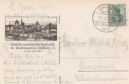 TàD Landwirtschaftliche Ausstellung Straßburg (Els) 1913 Du 9.6.13 Sur CP - Marcophilie (Lettres)