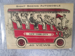 SIGHT SEEING AUTOMOBILE . CARTE A SYSTEME - NY - New York