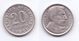 Argentina 20 Centavos 1951 - Argentina