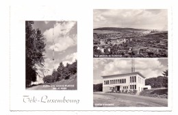 L 3590 DÜDELINGEN, Tele Luxemburg Station, Ortsansicht, 1958 - Dudelange