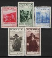 1931 Romania ,Boy Scout Organization , Mi. 413- 417 / Yv. 422 - 426 , MH - Nuevos