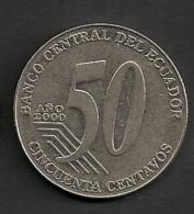 ECUADOR 50 Centavos 2000 ALFARO - Equateur