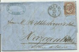 VE2042-Lettera Per La Svizzera Con 30 Cent. D.L.R. 17.10.1867 - Bella - 1861-78 Vittorio Emanuele II